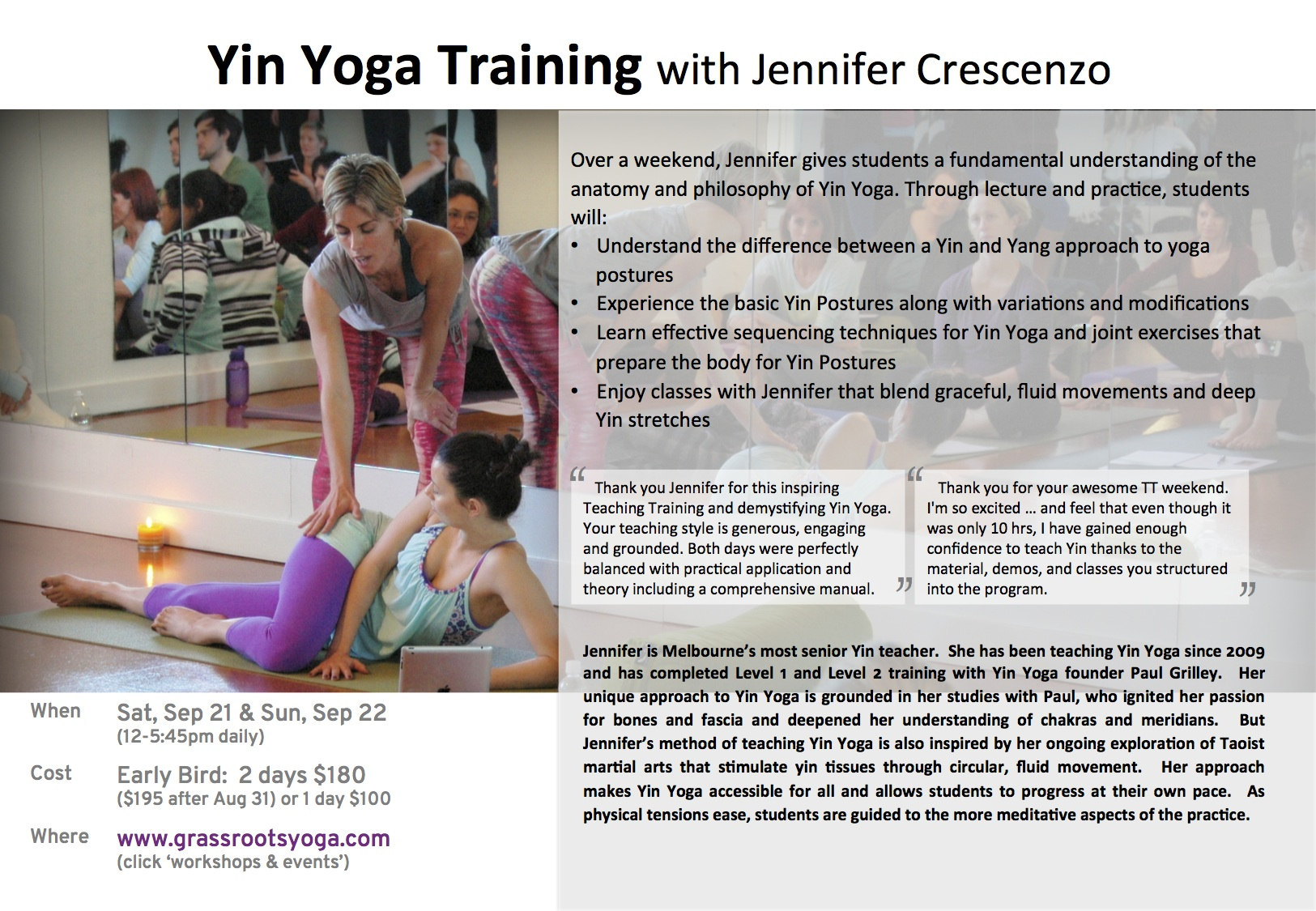 Registration Is Open For My Next Yin Yoga Teacher Training Book Now