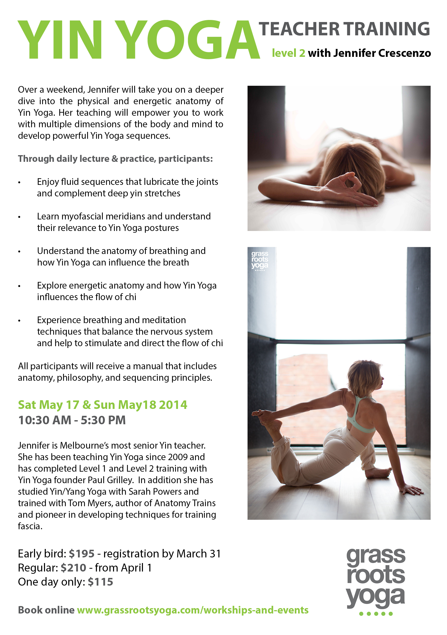 YinYoga TT Level 2 with Jennifer Crescenzo