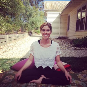 Outdoor Meditation at Le Yoga Daylesford