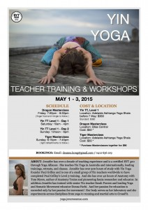 Adelaide Yin Yoga events flyer