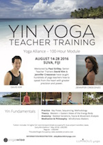 Yin Yoga TT - Fiji - Flyer